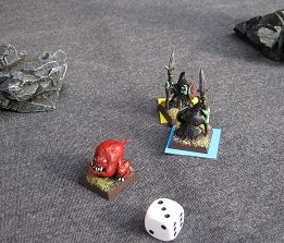 the final squig makes a break for it while the goblins bicker!
